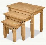 Tabella di estremità quadrata di legno di legno di colore della quercia del caffè naturale del tè piccola