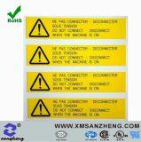 Limpar PU resistentes a condições climatéricas pegajosa de resina colorida Etiquetas de Aviso de Segurança