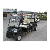 De elektrische Sportieve Auto van het Golf van Goederen met Wit Rood 6 Seater