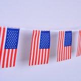 Polyester USA-Land-Flagge-Zeichenkette-Markierungsfahnen (J-NF11P07022)