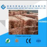 Sucata de fio de cobre metálico com 99,99% de pureza