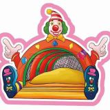 Cheer Amusement payaso de circo Themed Castillo hinchables