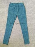 Fanshion Denim Jeans Mujer Leggings Lady's Ocio Pantalones (1423)