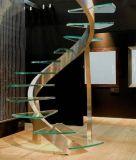 Ultra Clear закаленного слоистого стекла по лестнице (JINBO).