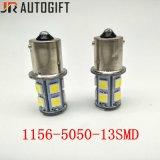 bulbos automotrizes do carro do estacionamento do diodo emissor de luz dos bulbos 13LEDs de 12V/24V S25 5050