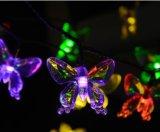 Напольный шнур света бабочки СИД солнечный