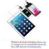 saída USB duplo 5V DC/1A e 5V CC/2.1A, capacidade real 10000mAh banco de potência para telefone celular