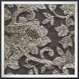 網の刺繍のレースの花によって刺繍されるレースのテュルEmbのレース