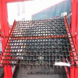 編まれた振動スクリーンの網に鉱山のためのホックによってひだを付けられる金網がある