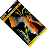 """pistola di plastica registrabile dello spruzzo d'acqua dei reticoli dello spruzzatore 3 del giardino di 1/2 """" con la pinsa comoda"""