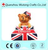 Imanes lindos del refrigerador de la resina del oso del peluche de Europa del estilo de la marca barata de encargo de Londres