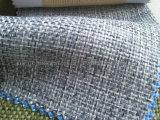 100%Polyester陽イオンのリネンタイプ布