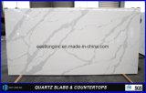 Сляб кварца Calacatta для строительного материала штанги верхней части таблицы верхней части ванной комнаты Countertop/кухни верхнего твердого поверхностного