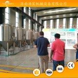 ホームに装置を醸造するマイクロビールビール醸造所の発酵タンク