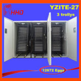 Máquina automática durável da incubadora do ovo da galinha dos ovos de Hhd 12672 para ovos de choque para a venda