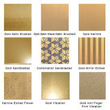 Edelstahl-Blatt des Kurbelgehäuse-Belüftungüberzogenes SGS-Ti-Gold304