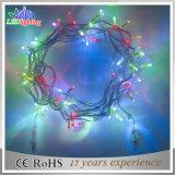 Luzes impermeáveis da corda do diodo emissor de luz do fio do PVC da decoração do Natal do RGB