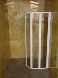 浴室の折るガラスシャワー・カーテン機構