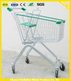 De Kar van de Supermarkt van het zink met de Staaf van het Slot en van het Handvat, van het Wiel van Pu wordt gemaakt, de Capaciteit die van de Lading 110kg