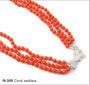 Colar de coral vermelho (N500)