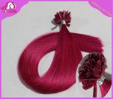 Ponta em U queratina Extensão de cabelo, pêlos de pregos