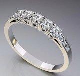 anello di oro giallo 10K con la perla (LRG1162)