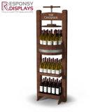 Cremagliera di visualizzazioni diritta della bottiglia di vino del pavimento su ordinazione creativo