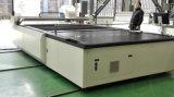 Вырезывание ткани кладя компьютеризированный машиной автомат для резки картины ткани
