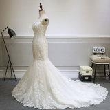 Vestido de casamento de alta qualidade e fluxo para a noiva