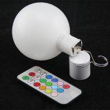 Venta caliente Navidad bola de luz LED de batería con siete colores