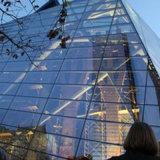 Mur rideau en verre isolant de bâti en aluminium luxueux de modèle