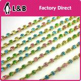 다중 색깔 Ab를 가진 도매 납땜 Ss12 3mm 모조 다이아몬드 컵 사슬