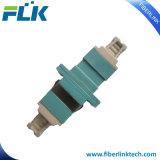 Adaptador de fibra óptica LC Duplex con nuevo tapón antipolvo