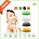 100% натуральные Konjac губкой для ухода за кожей лица и тела очистка