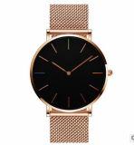 Caja de aleación de correa de malla de reloj de moda, OEM Watch, el Japón movimiento reloj de pulsera (DC-260)