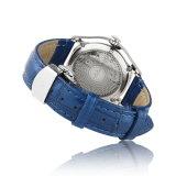 Montre-bracelet de luxe mécanique de dames de courroie en cuir de diamant