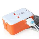 1마리의 보편적인 국제적인 플러그 접합기 2 USB 운반 세계 여행 교류 전원 충전기에서 모두