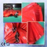 Encerado temporal incombustible del PE de las tiendas de la cubierta plástica impermeable del material para techos