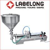 Manual/Semi Auto Abastecimiento de Agua y salsa de crema/máquina de llenado