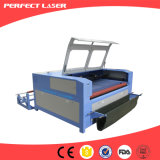 Macchina per incidere di taglio del laser del CO2 del panno del tessuto da 1600 x 1000 millimetri con l'alimentatore automatico