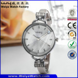 Relojes ocasionales de la manera de las señoras del reloj del cuarzo de la insignia de encargo (WY-068D)