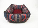 OEM 다색 주문을 받아서 만들어진 코듀로이에 의하여 접히는 큰 중앙 S 장방형 사각 면 애완 동물 제품 개 침대