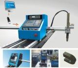Placa de metal portátil CNC llama de gas& máquina cortadora de plasma con las orugas de acero
