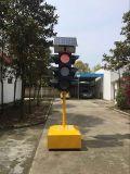 Solar-LED-Gelb-blinkende Verkehrs-Warnleuchte