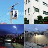 La vente chaude a intégré la fabrication extérieure solaire de la Chine de lampe de détecteur de mouvement de réverbère de la lumière DEL