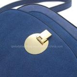 Bolsa redonda bonita azul do plutônio do fechamento