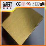 ローズの金のヘアラインステンレス鋼シート201