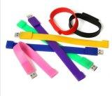 Na moda em borracha de silicone personalizado pulseiras banda dispositivo USB
