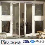 Portes en verre intérieures des prix de porte de salle de bains de PVC de profil de la qualité UPVC