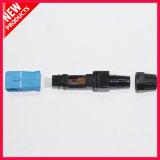 Conector instalable en el campo óptico del SC APC de fibra para el cable de gota de FTTH